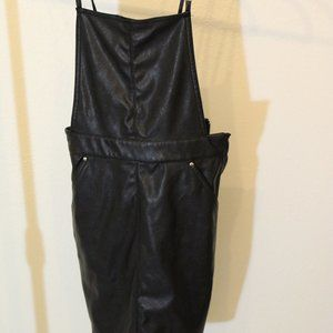 Leather Overall Dress/Skirt